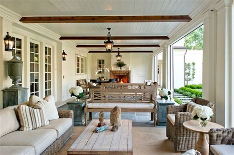 better homes and gardens white wash floor l zinc dining table transitional deck patio beth webb