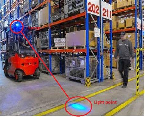 blue warning lights on forklifts forklift back light led blue spotlight warning approach