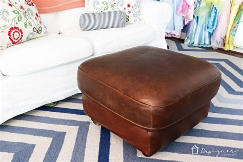 how to refurbish an ottoman learn how to restore leather furniture designer trapped
