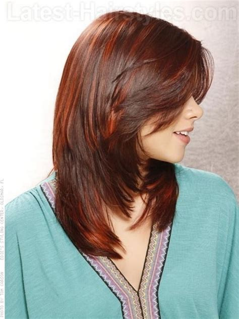 medium hair styles with layers back view layered haircut back view