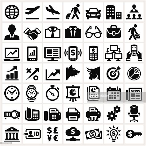 Vector Business Icons Set Royalty Free Stock Photos Image 1095468 Business Banking And Finance Royalty Free Vector Interface Icon Set Vector Getty Images