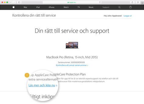 Check Apple Care For Mba by Kan Jag K 246 Pa En Applecare Plan F 246 R Enheten Apple Support