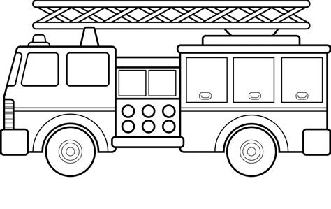 Free Printable Vire Coloring Pages | free printable fire truck coloring pages for kids