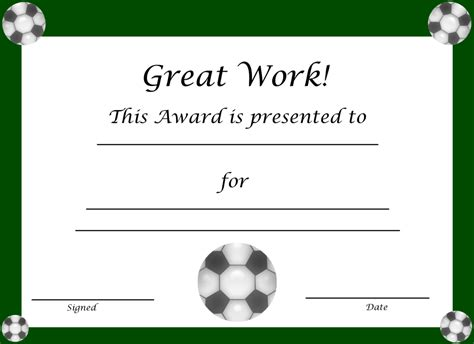 soccer certificate template free most improved baseball player quotes quotesgram