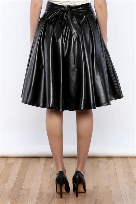 gracia faux leather skirt from michigan by lifted boutique