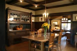 craftsman home interiors 1908 arts crafts dining room with built in buffet and wainscoting architect frank m