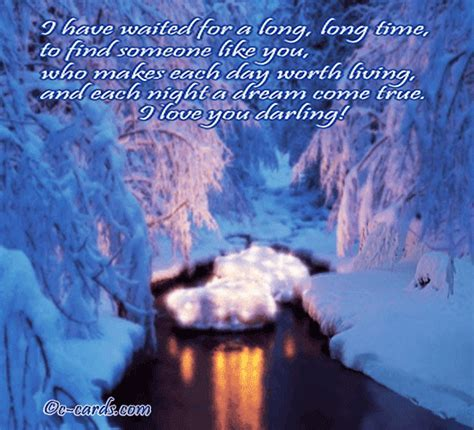 Dreams Of A Winter Night. Free Love Etc eCards, Greeting