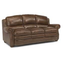 flexsteel leather sofa flexsteel 1473 31 hamlin leather sofa discount furniture