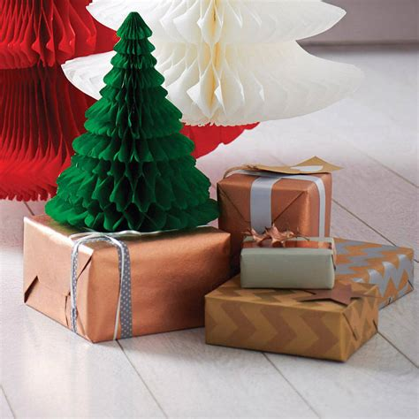 metallic chevron christmas gift wrap set by sophia