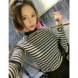 Dress Panjang Salur Impor kaos lengan panjang motif salur t936 moro fashion