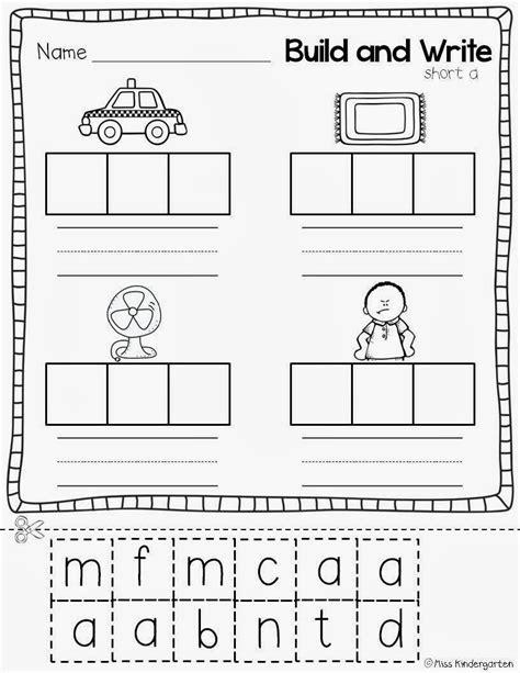 Cvc Worksheets by Miss Kindergarten Cvc Practice