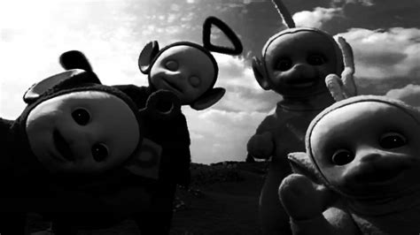 black and white oh the horror teletubbies horror