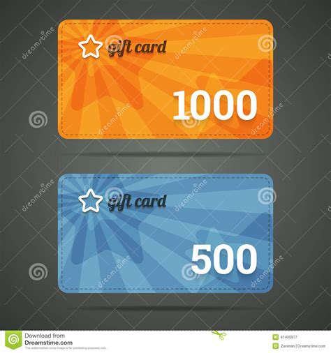 The Star Gift Card - gift card template with star and number stock vector image 41400877