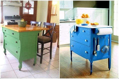 repurposed kitchen island ideas dressers repurposed as kitchen islands or tea carts pictures photos and images for