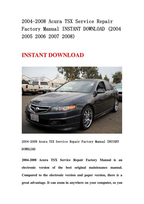 service manual free auto repair manual for a 2007 acura tsx chilton honda pilot and acura