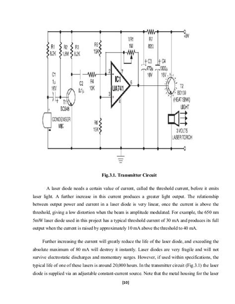laser diode transmitter circuit electrical project chandresh report on laser transmitter and receiver