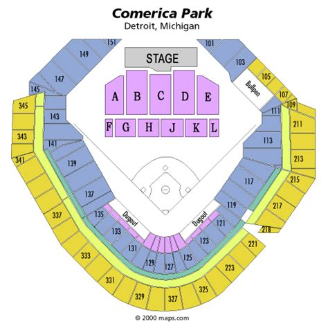 comerica park seating sections vans warped tour july 08 tickets detroit comerica park