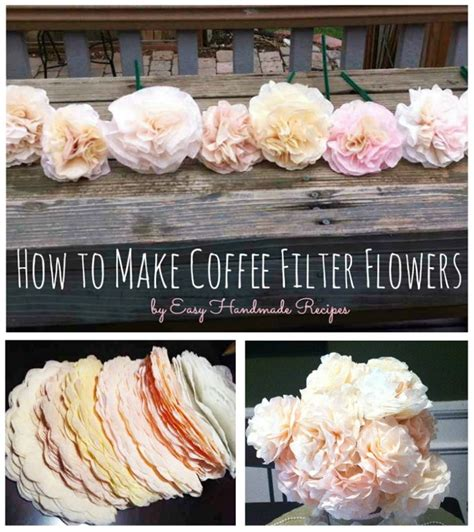 How To Make Paper Flowers From Coffee Filters - how to make coffee filter flowers u create