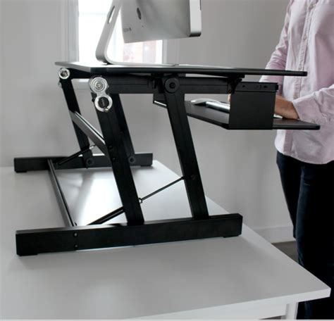 touch standing desk converter with gas rt