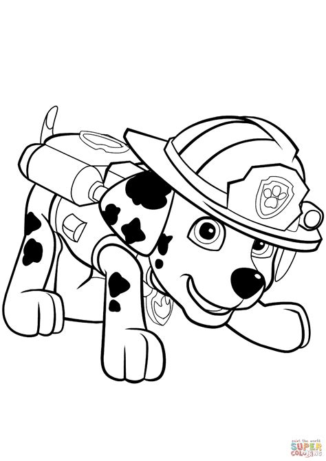 paw patrol marshall puppy coloring free printable coloring pages