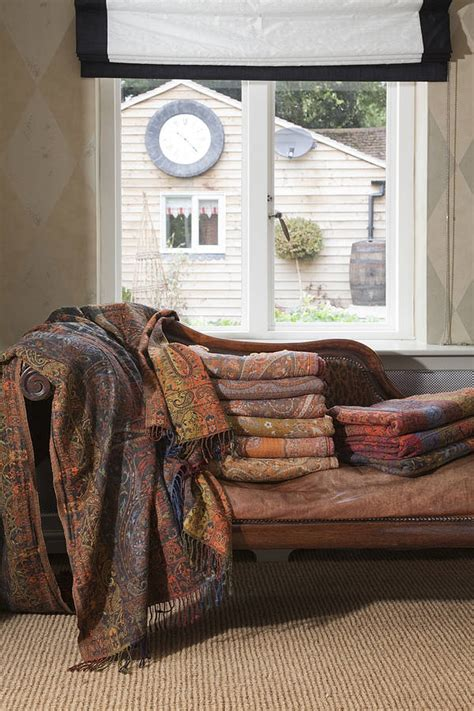 jamawar wool sofa throws by indian garden company