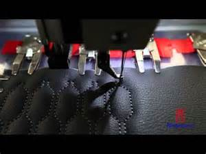 automatic pattern sewing on car seat cover with richpeace