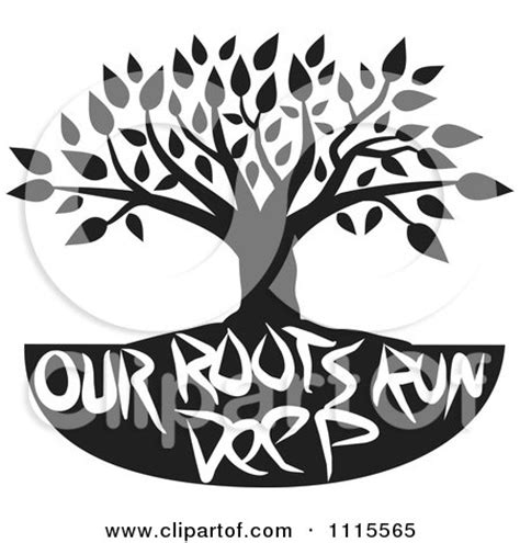 Clipart Black Tree Over We Are Family Text   Royalty Free