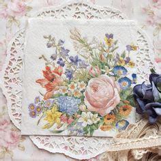 Promo Tissue Decoupage napkin papers serviettens decoupage tissue shabby chic roses 33x33 cm 1 4 folded idr 15 000 pc