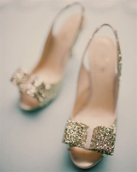 Gold Sparkly Bridal Shoes by When How To Choose Your Wedding Shoes Tulle