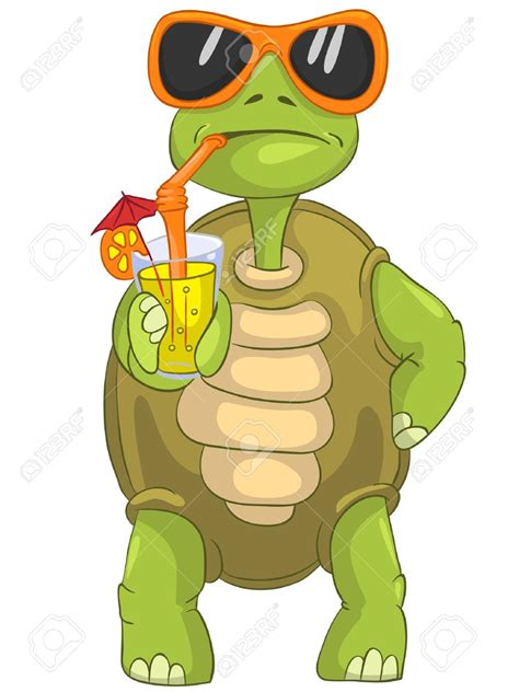 cartoon cocktail turtle clipart cool cartoon pencil and in color turtle