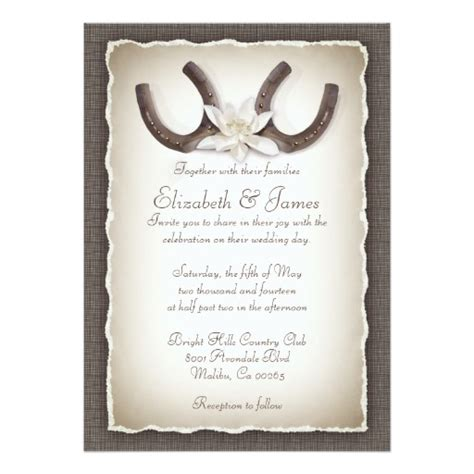 Western Wedding Invitations Zazzle Cowboy Wedding Invitations Templates
