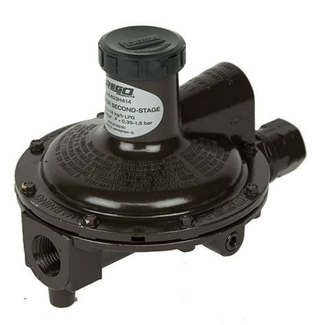 Regulator Single Stage Rego Low Pressure rego 4403b4 second stage propane gas regulator buy now from gasproducts co uk