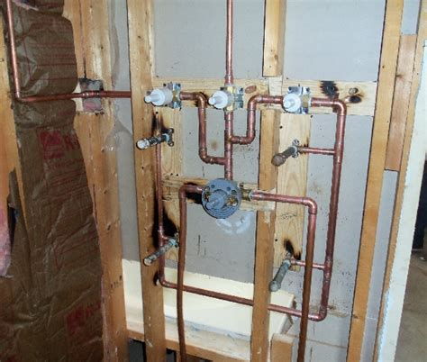 Shower Stall Plumbing Diagram by Multi Shower Plumbing Diagram Pictures To Pin On