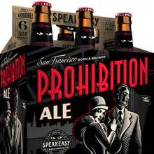 speakeasy prohibition ale big daddy ipa  packaging fonts