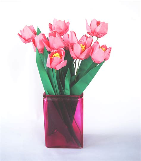 Origami Tulip Bouquet - premium origami tulip bouquet 12 graceincrease custom