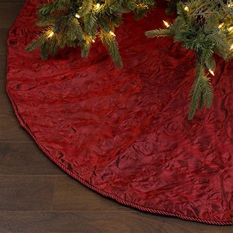 nest noel 72 inch burgundy embroidered taffeta christmas