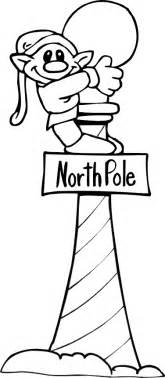 Christmas elf coloring page elf on north pole