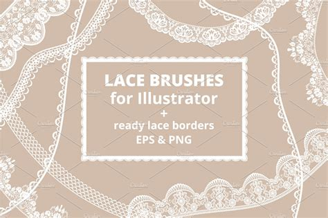 lace pattern ai free lace brushes for illustrator brushes creative market