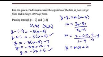 write the equation of the line that passes through the