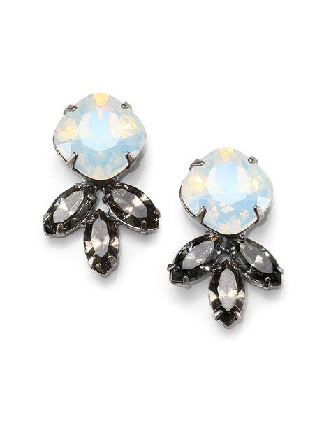 dannijo earrings dannijo earrings in silver lyst