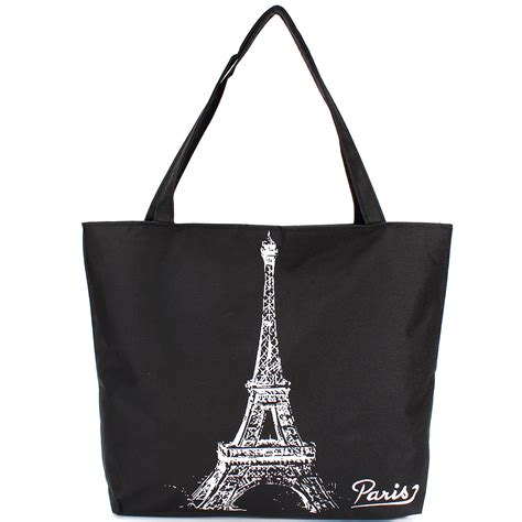 In Which City The Eiffel Tower Tote Shakes Things Up A Bit by Canvas Handbag Shoulder Shopping Bag