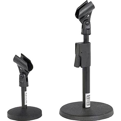 amplivox sound systems s1075 desk microphone stand s1075 b h