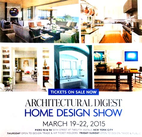 architectural digest home design show march 2015 news robert mielenhausen artwork