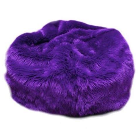 Bean Bag Chairs - fuzzy fur bean bag black fuchsia lime green purple