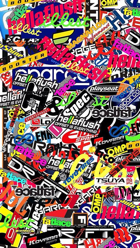 jdm sticker wallpaper wallpaper sticker bomb wallpaper