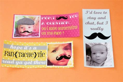 printable mustache bookmarks 17 best images about sayings for my mustache diecut on