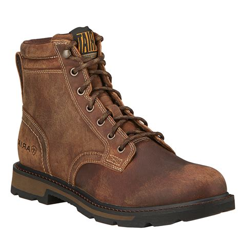 ariat men s 6 groundbreaker lace up work boots boot barn