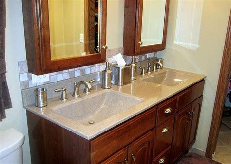 double wave sinks similar cabinet lay   doors