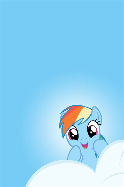 rainbow dash cloud peek iphone ipod wallpaper by alphamuppet on deviantart