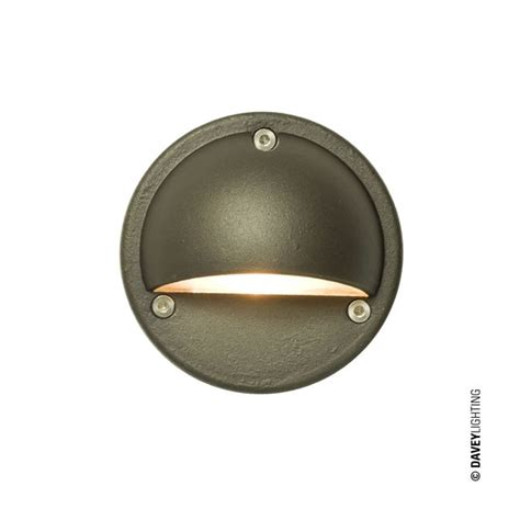 davey 7568 low voltage step light weathered brass